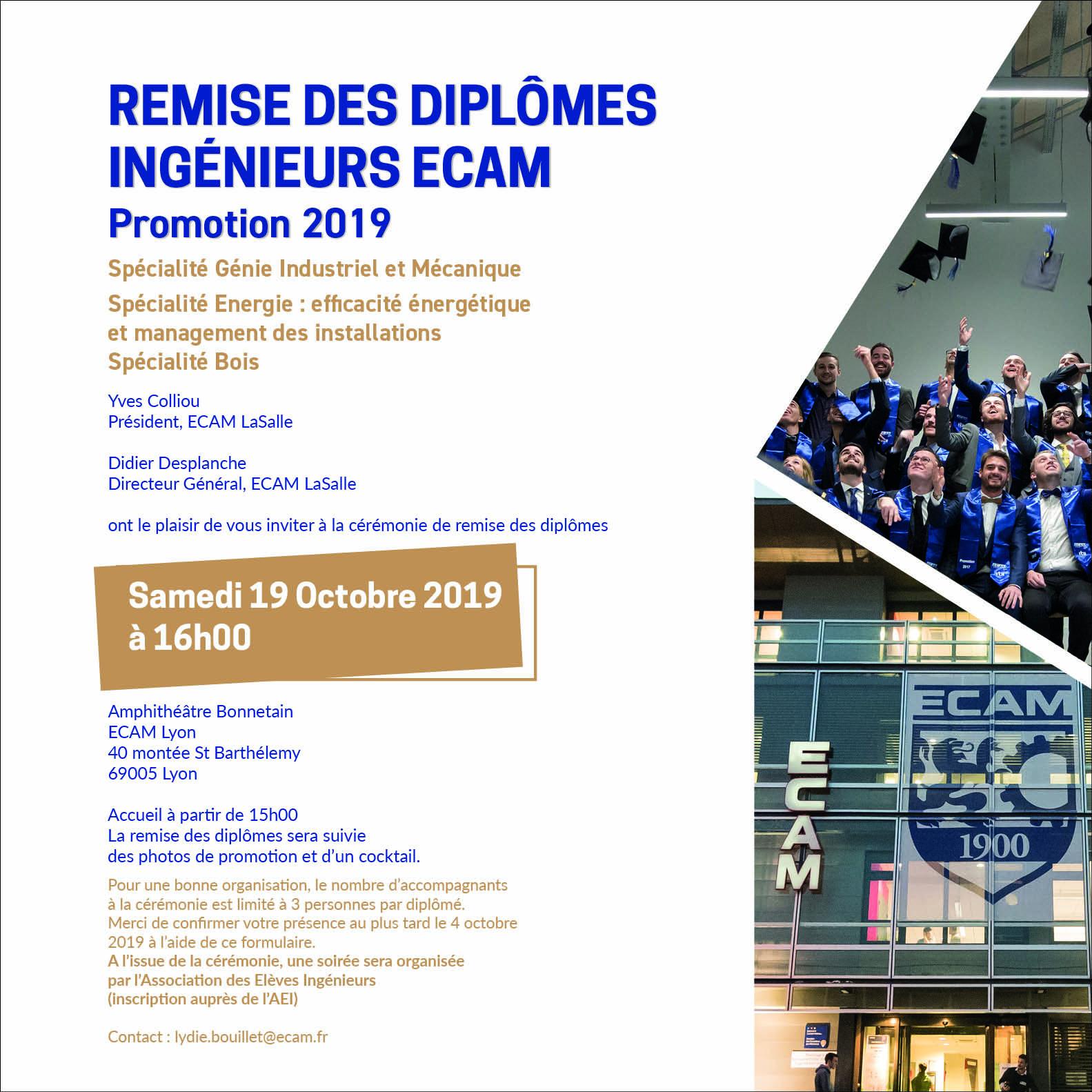 Remise des diplomes ingenieurs ECAM alternance