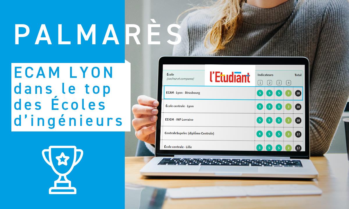 Ecam Lyon Dans Le Top Des écoles Dingénieurs Letudiant 2019