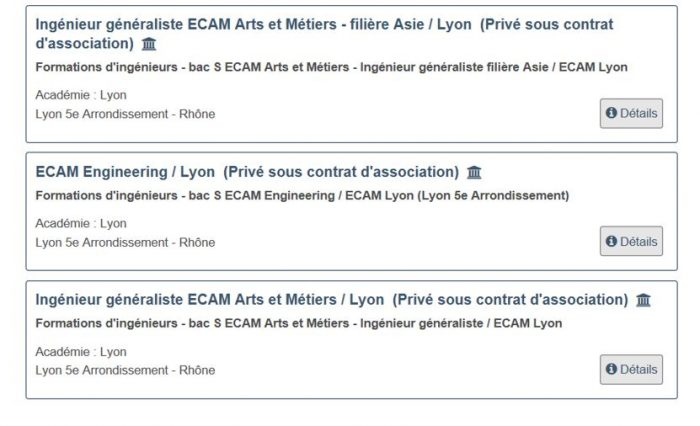 Admission ECAM Lyon Parcoursup