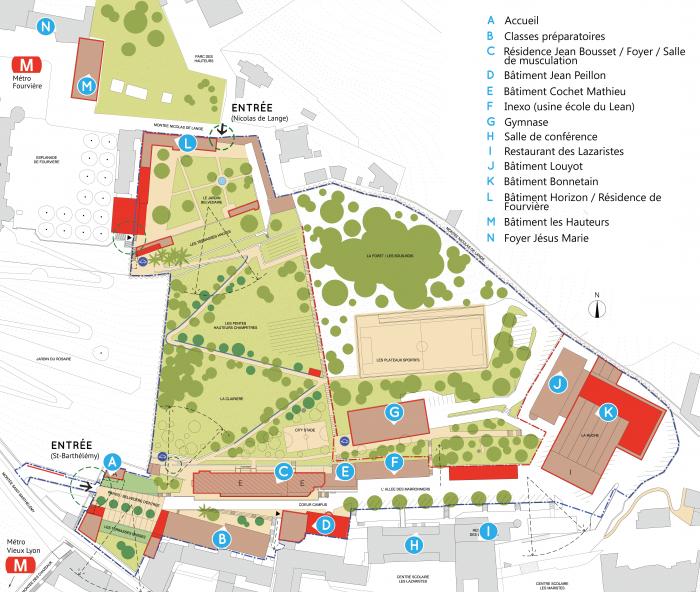 Plan accès campus ECAM